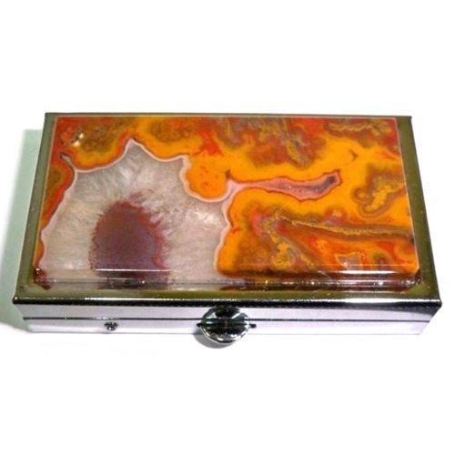 Agate pill box