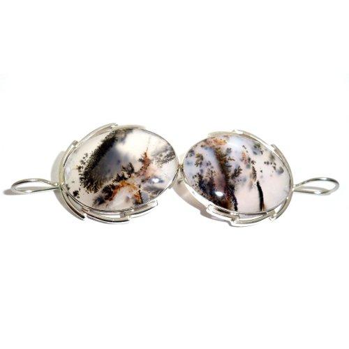 Dendritic agate earrings