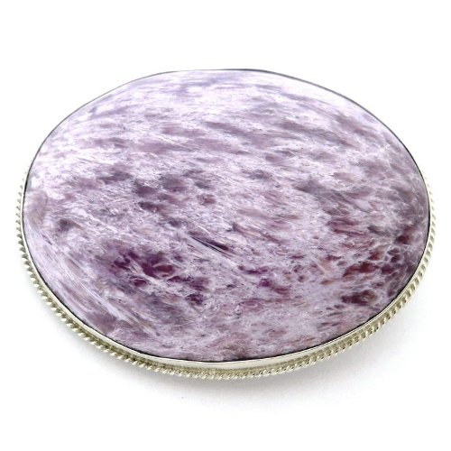 Charoite brooch