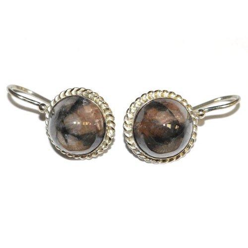 Chiastolite earrings