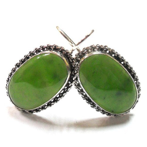 Nephrite earrings