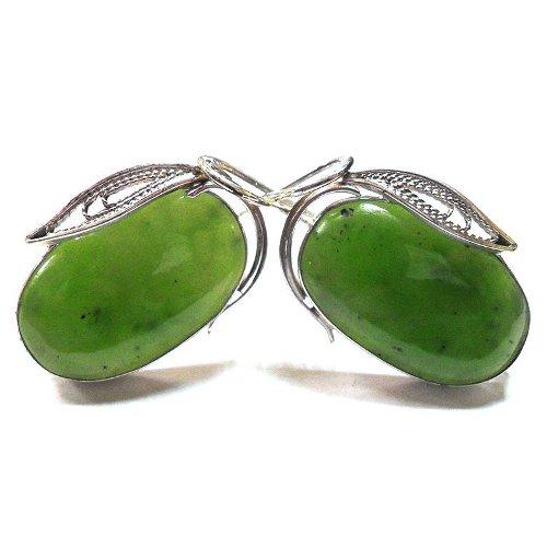 Nephrite earrings
