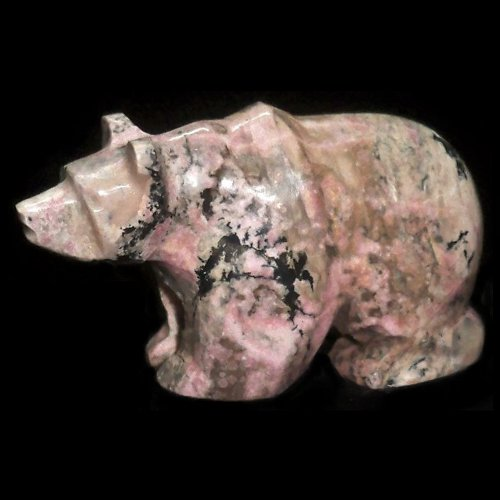 Rhodonite bear