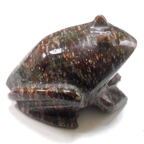 Obsidian frog
