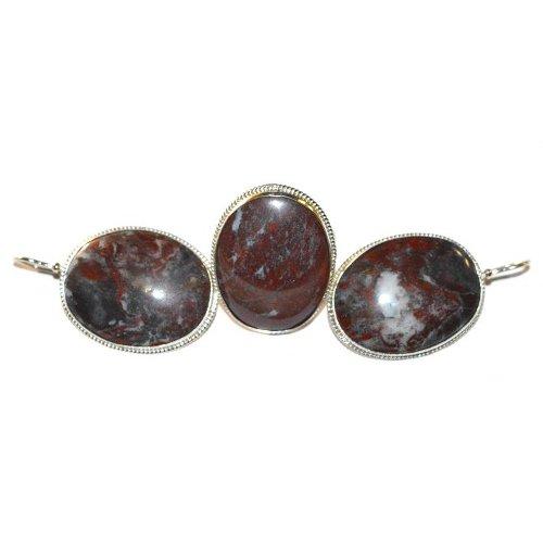Jasper ring and earrings