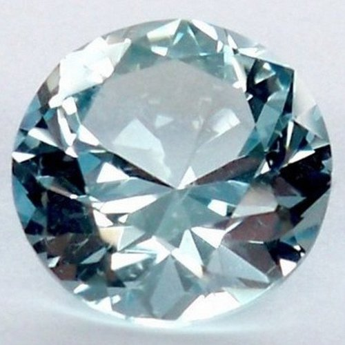 Faceted topaz cabochon